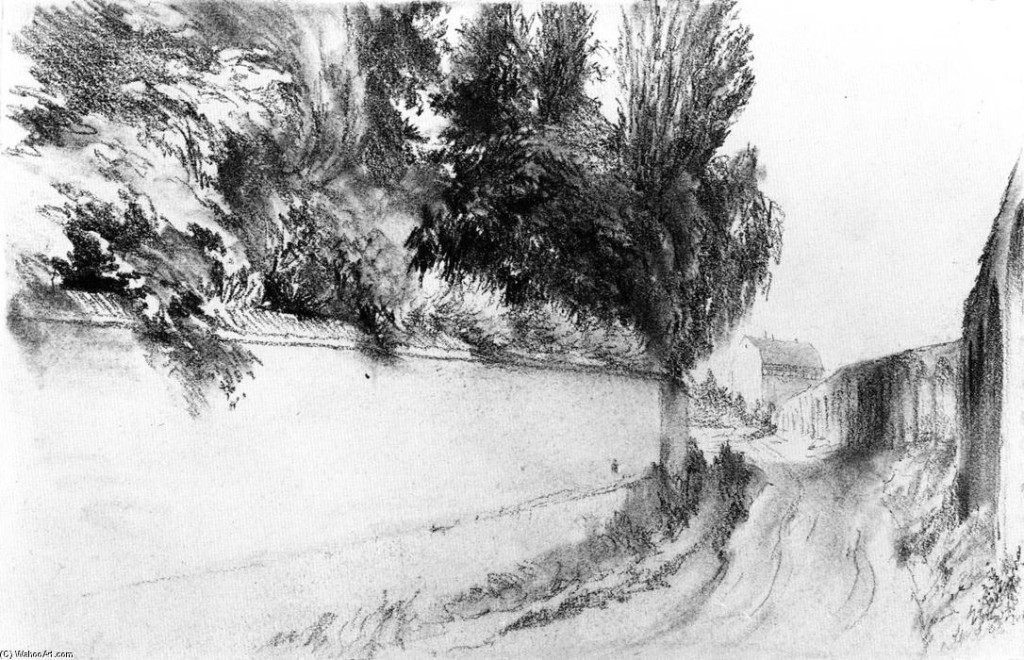 Adolph-Von-Menzel-Road-along-a-Park-Wall